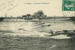 Le barrage à Beauregard - Boé