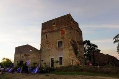 Installation pour le spectacle son et lumière « Dame Garonne »